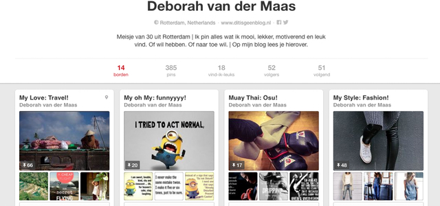Volg mij en Contact me on Pinterest