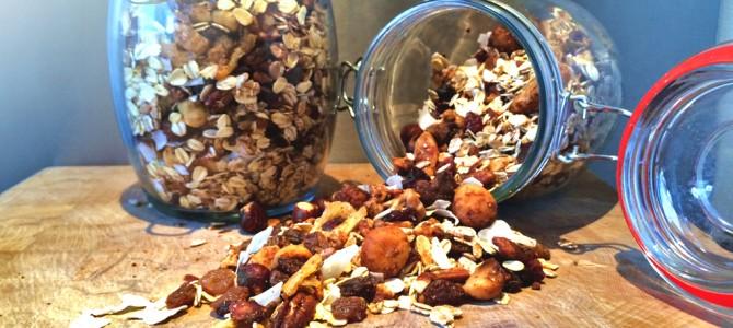 Zelf gezonde granola maken