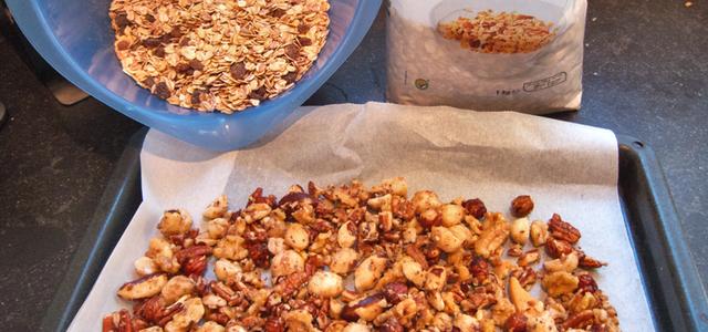 zelf granola of muesli maken recept