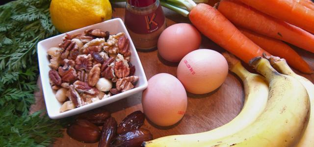 Gezonde suikervrije worteltaart ingredienten